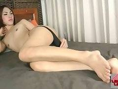Lovely Asian She-Male Starts Stripping For You 2