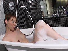 Haruka Steams Up The Bathroom