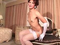Lovely Asian Tranny Is Fondling Herself 2