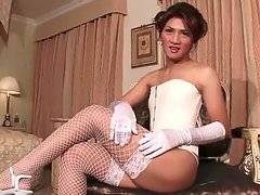 Hot Naughty Ladyboy Does Solo Show 1