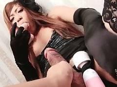 TS Kureha Kanzaki Plays With Sex Toys 3